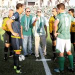 October 11, 2015: The OKC Energy FC plays the LA Galaxy II in the USL Western Conference Finals at Taft Stadium in Oklahoma City, Oklahoma.
