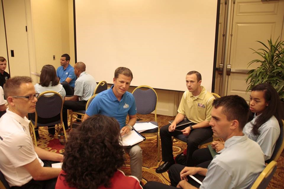 Danny Thornberry meets with his Mentees to discuss their goals and determine how he can help them throughout the week.